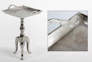 mesa rustica metalica envejecida
