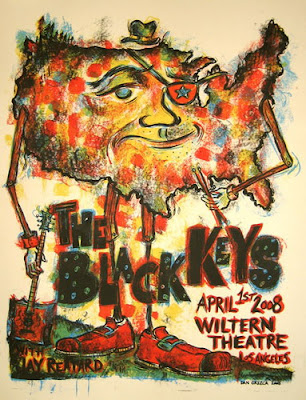 Dan Grzeca Black Keys Poster Illustration