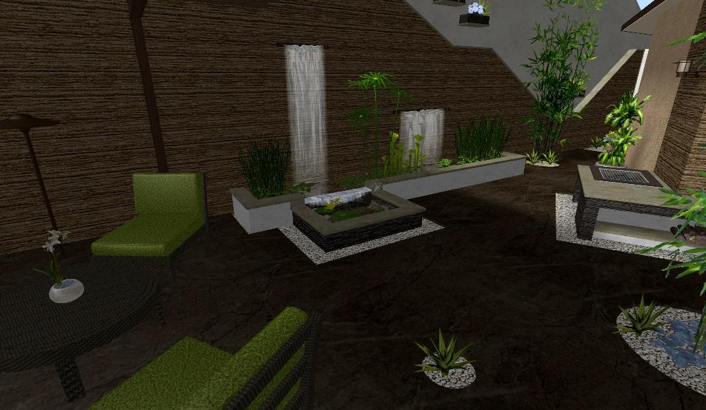 El patio caf un espacio de dise o minimalista elegante for Modelos de estanques
