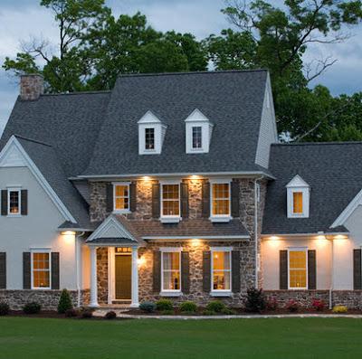 Elegante casa estilo rústico