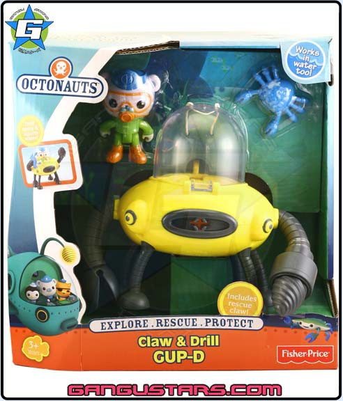 the Octonauts オクトノーツ Barnacles Gup D Fisher-Price toys キャプテン・バーナクルズ
