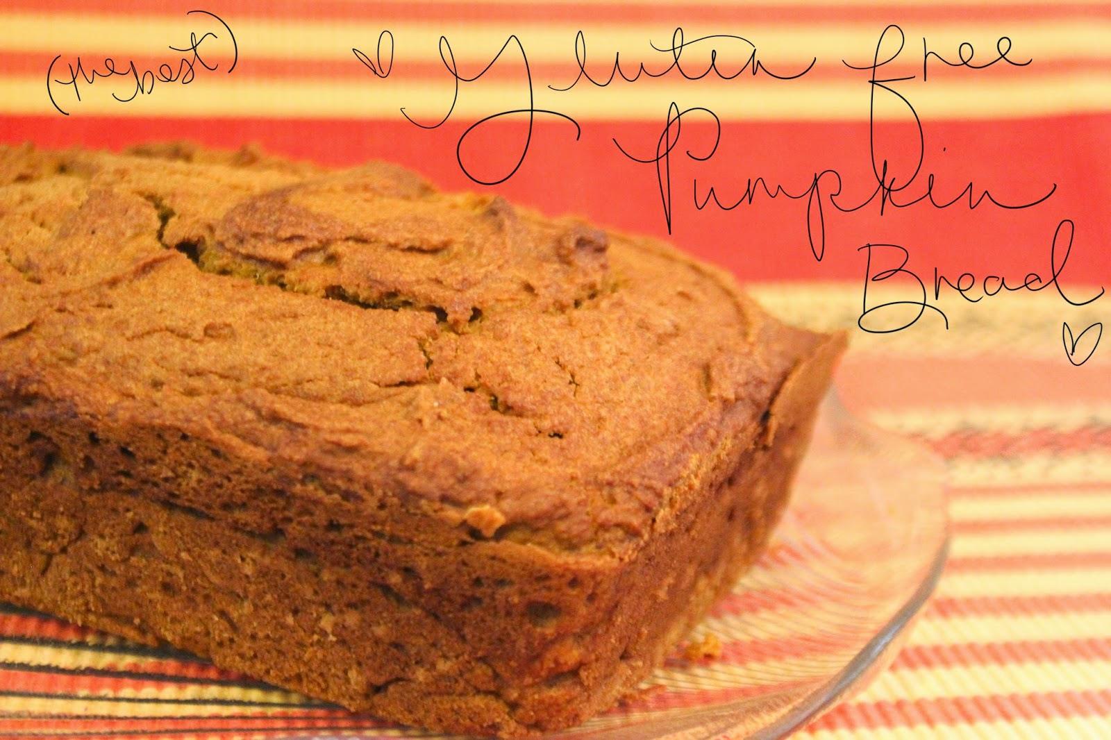 Easy Gluten Free Pumpkin Bread!! (YUM!)