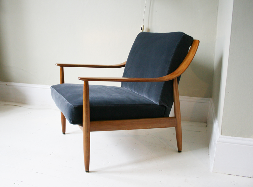 Hickey and Dobson Edna 1950 s Danish lounge chair