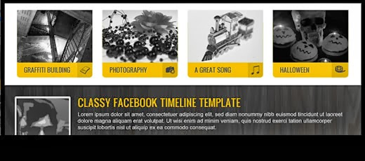 Yellow Facebook Timeline Template