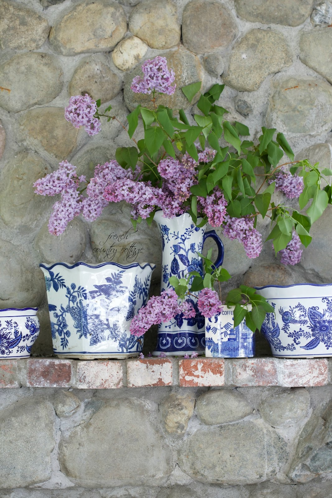 Blue White Love French Country Cottage