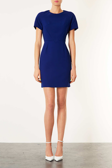 panelled shift dress