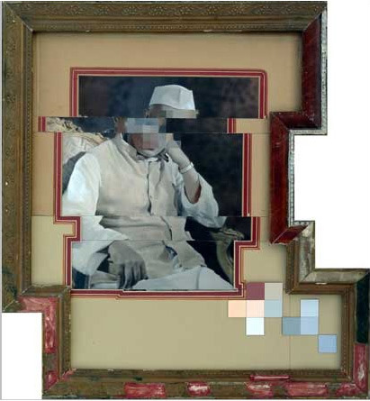 Nandan Ghiya Pixelated Photographs & Wooden Frames pixel error pixelated glitch