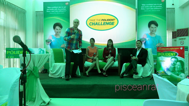 Juddah Paolo, Polident Product Manager Ms. Isa Marfori, President of Philippine Prosthodontic Society Dr. Liezl Manaloto-Ceballos, GSK Philippines Consumer Healthcare General Manager Mr. Jeoffrey Yulo,