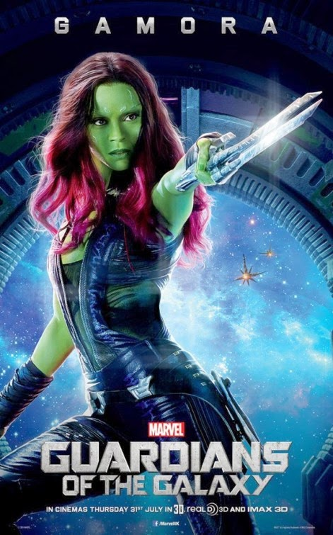Guardians of the Galaxy International Character Movie Posters - Zoe Saldana as Gamora