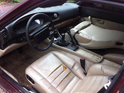 Porsche 944 Interior Seats Ripped