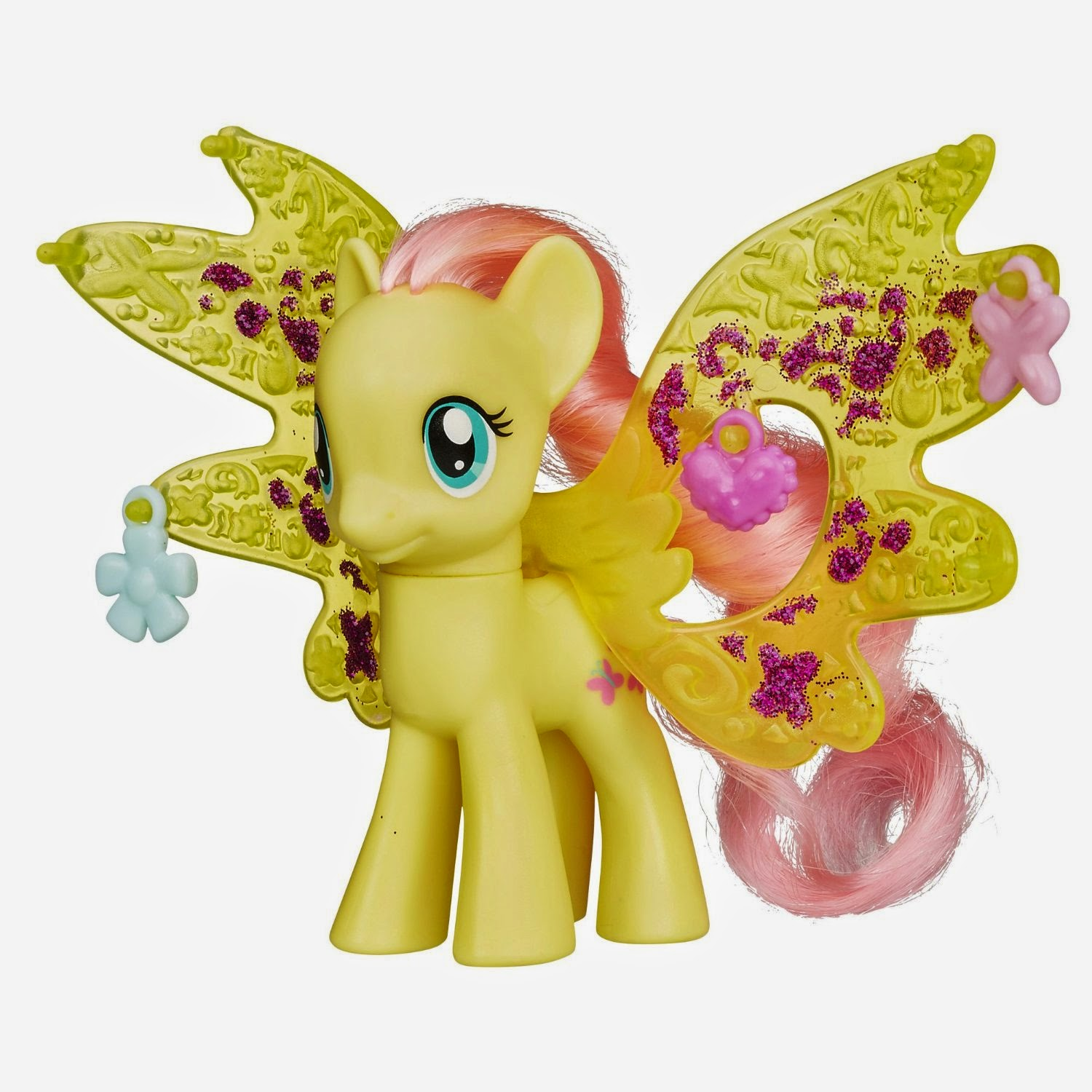 Fluttershy Cutie Mark Magic Charm Wings Brushable