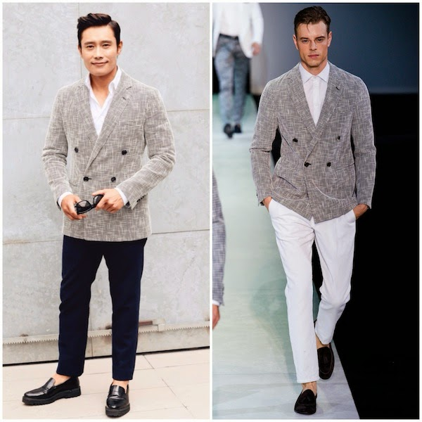 Lee Byung-Hun 이병헌 at Giorgio Armani show during Milan Menswear Fashion Week Spring Summer 2015 #MFW