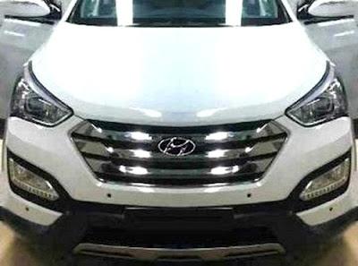 New Hyundai Santa Fe spy pictures
