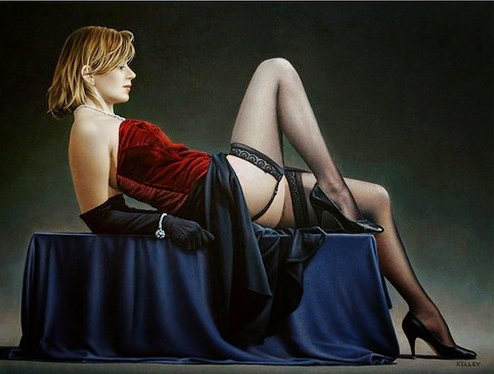 cuadros-al-oleo-de-mujeres-en-ropa-interior