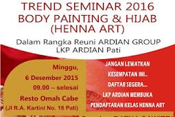 Ikuti Trend Seminar 2016: Body Painting & Hijab Henna Art