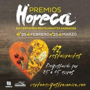 XIV Certamen de restaurantes de Zaragoza. Premios Horeca