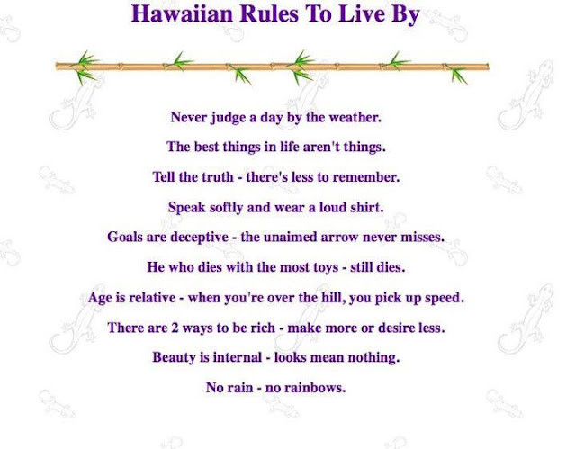 north shore notes hawaiian rules to live by