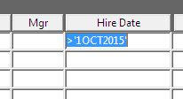 specify criteria in enter query mode of oracle forms