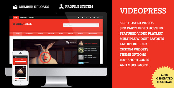 download VideoPress - A Self Hosted Video Streaming Theme