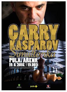 Le champion du monde d'échecs 1985-2000 Garry Kasparov à Pula en Croatie © Chess & Strategy