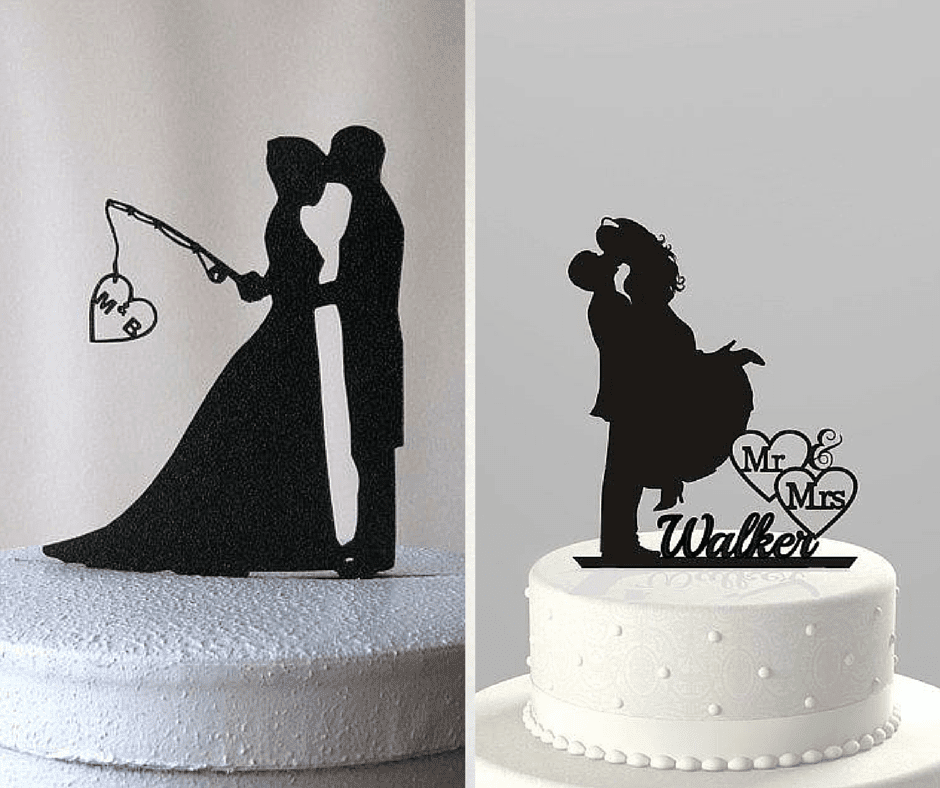 оригинална идея за фигурка на сватбена торта