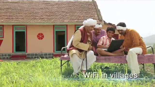 free wi-fi in village digital India campaign, Get free wi fi through digital india