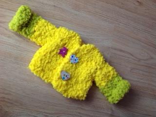 crochet doll coat, doll clothes