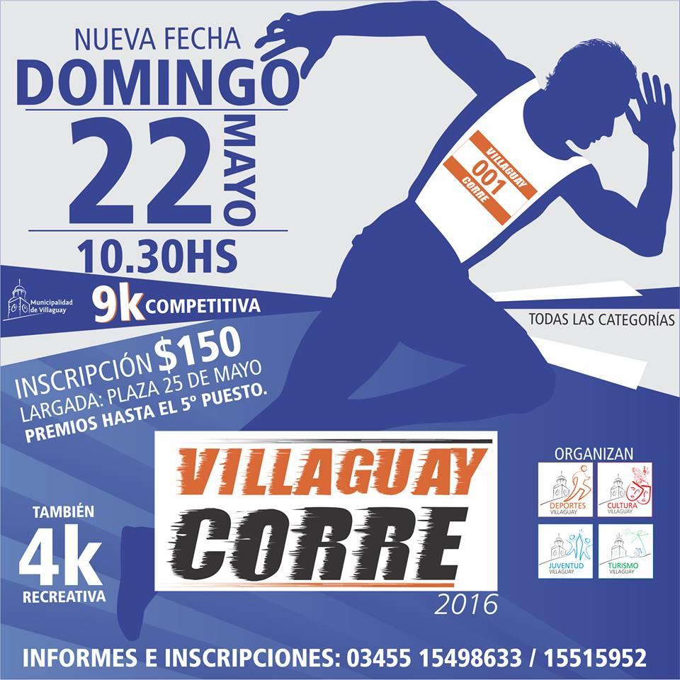 Villaguay Corre 9KM  -22 DE MAYO 10:30