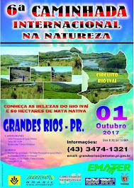 CAMINHADA INTERNACIONAL DE GRANDES RIOS DIA 01/10/2017