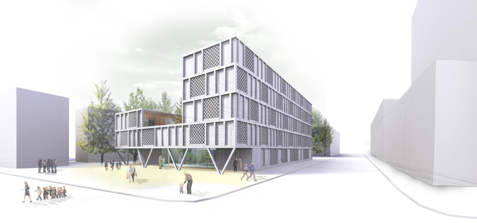 Bandada studio concurso centro de d a y viviendas en - Flexo arquitectura ...