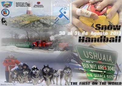 Primer torneo de handball en la nieve de  Ushuaia, ciudad más austral del mundo | Mundo Handball