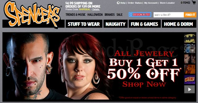 Jewelry at SpencersOnline.com