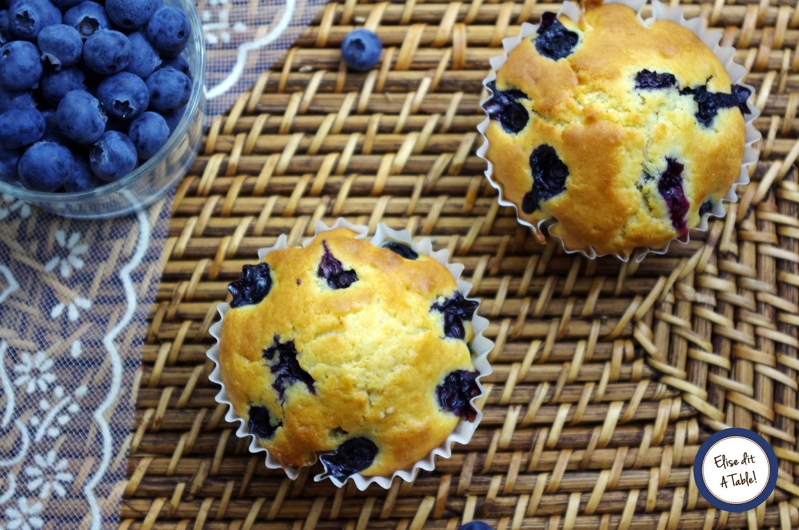 recette Muffins myrtilles