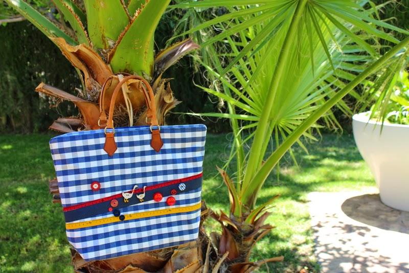 La posada de la indiana bolso de verano con telas de ikea - Telas exterior ikea ...