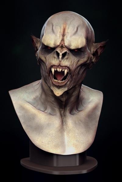 Vampire Sculpt 3D Character Art Bruno Melo