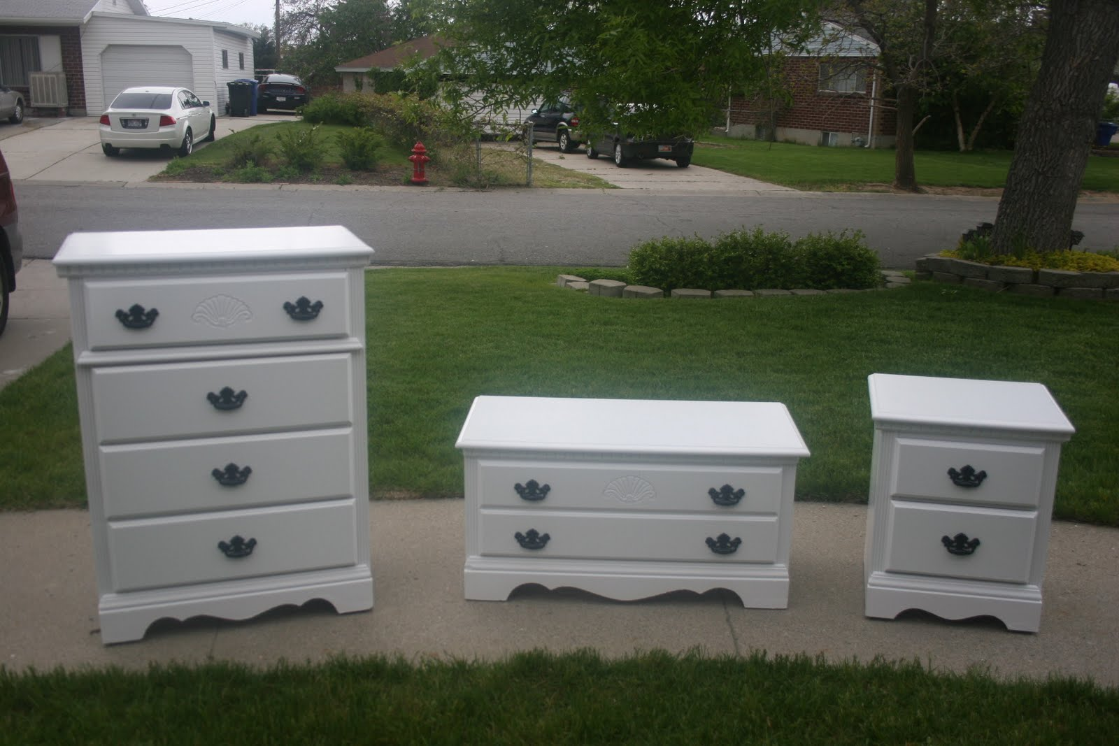 3 Piece White Girl 39 s Dresser Set. 3 Piece Dresser Set