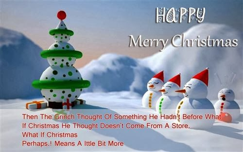 Free Printable Merry Christmas Greetings Card With Sayings 2013