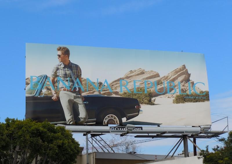 Banana Republic Journey in Style car billboard