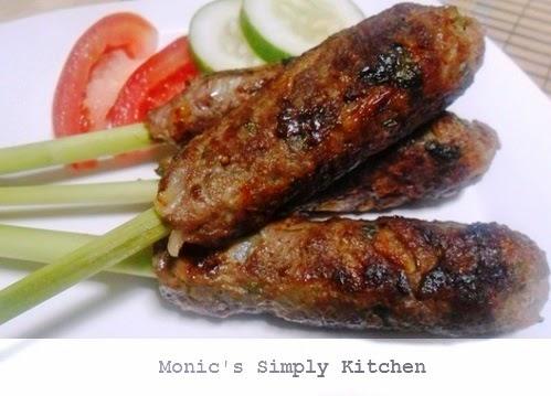 sate lilit daging sapi arab