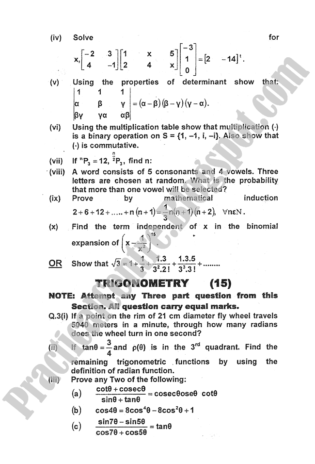 Mathematics-2011-five-year-paper-class-XI