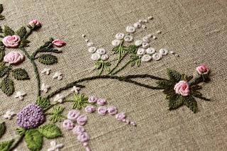 Вышивка рококо нитки