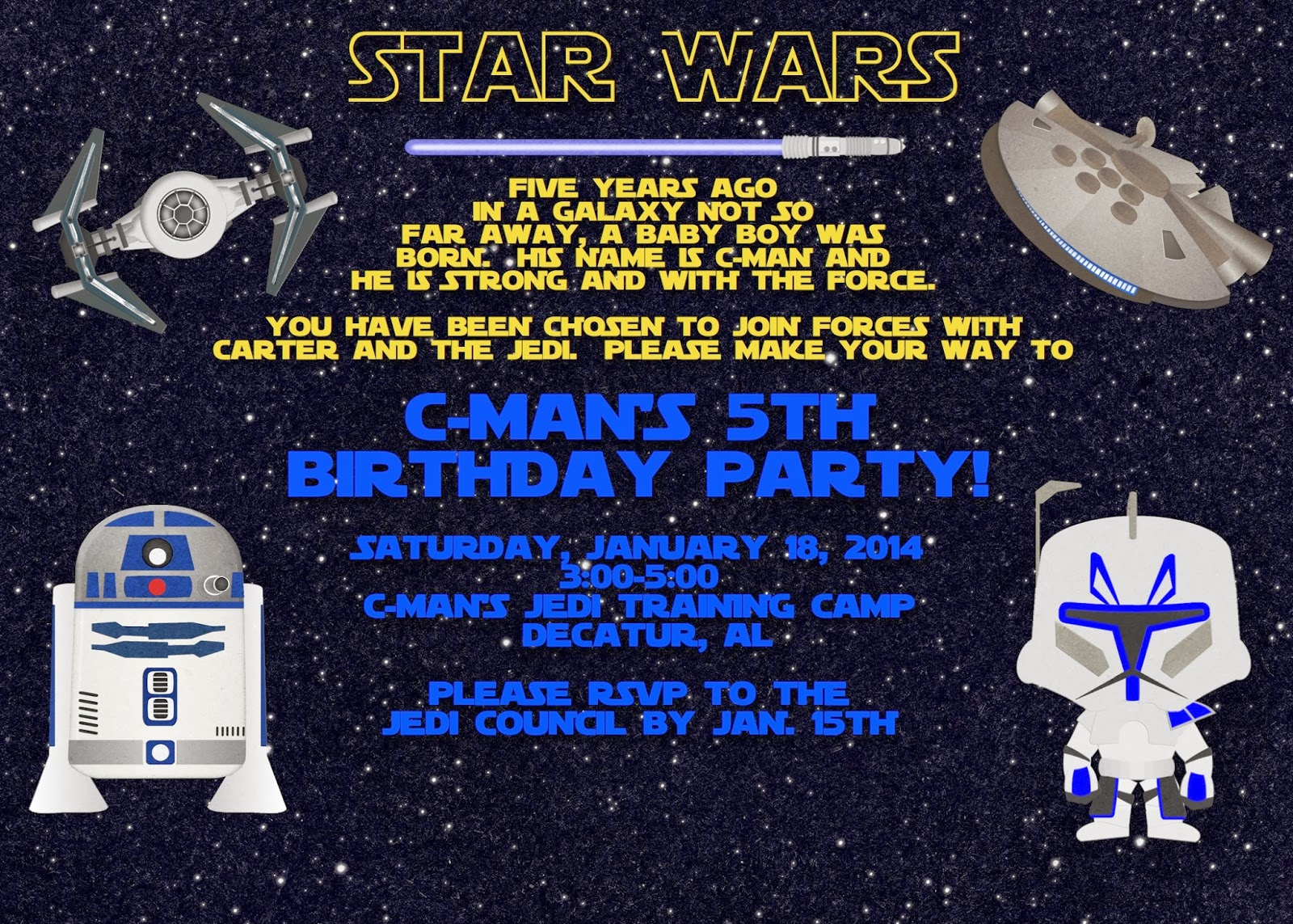 Star Wars Birthday Invitation | A Disney Mom\'s Thoughts