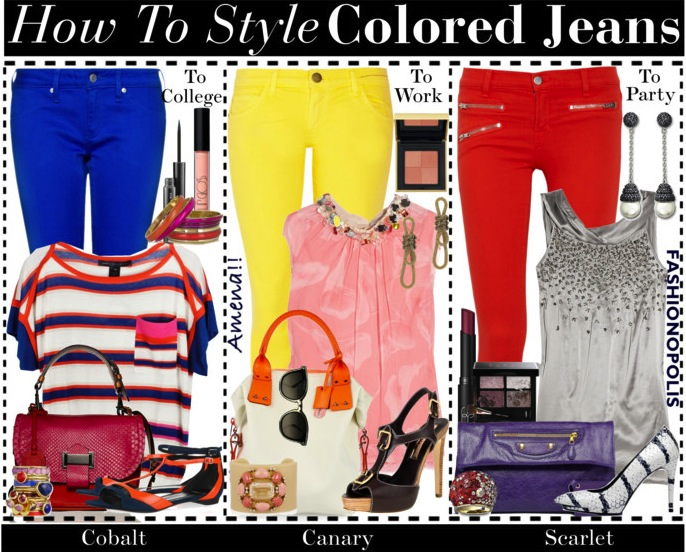 Fashion Ideas For Colored Jeans