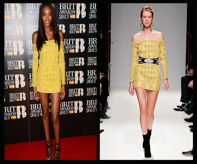 a filha do chefe modelo jourdan dunn dress balmain brit awards 2013