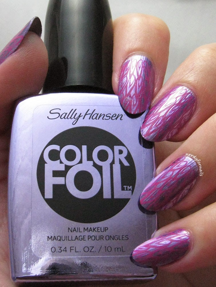 Sally Hansen Color Foil Purple Alloy with Stamping