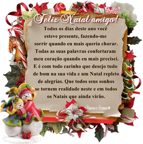 Flores E Frases Feliz Natal Amigo