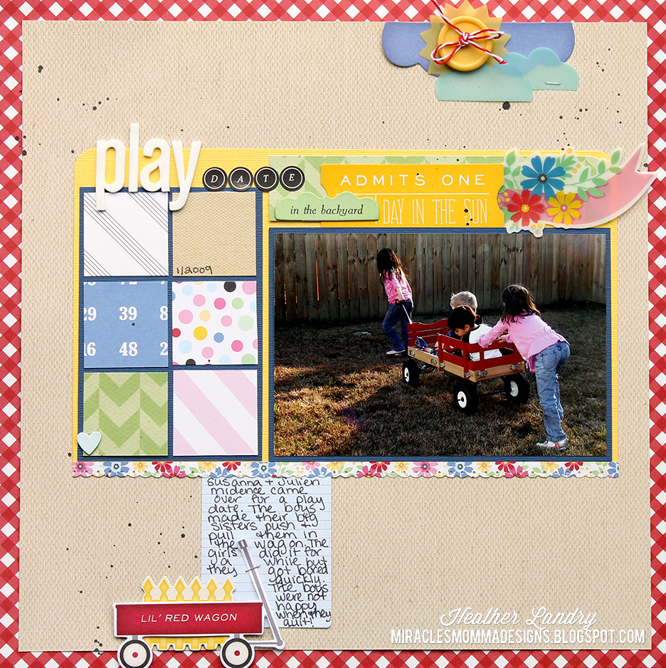 Miracles Momma Designs Play Date In The Backyard Scrapbook Layout
