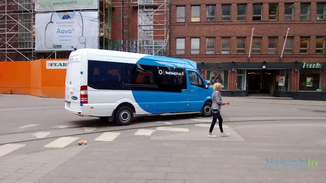 KutsuPlus bus in Helsinki