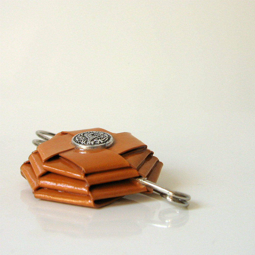 paper, brooch, fall, paper jewelry, paper brooch, folding, origami,