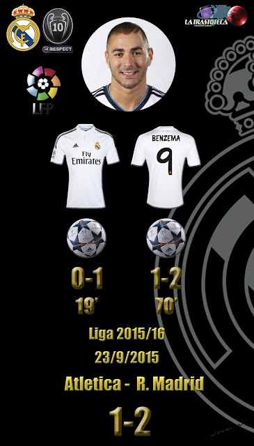Bencema (Doblete) - Atletic 1 - 2 Real Madrid - Liga 2015/16 - Jornada 5 - (23/9/2015)